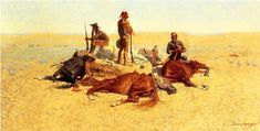 Image detail for -Frederic Remington >> The Last Lull in the Fight (aka The Last Stand . Artist Painting, Figure Painting, Oil Painting On Canvas, Frederic Remington, Last Stand, American Frontier, Oil Painting Reproductions, African American History, Horse Art