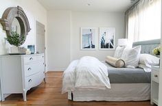 White, casual and chic bedroom {Bryn Alexandra Interiors}