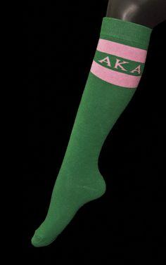 Alpha Kappa Alpha Knee High Socks