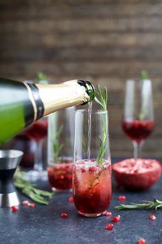 4 Ingredient Sparkling Pomegranate Mimosas