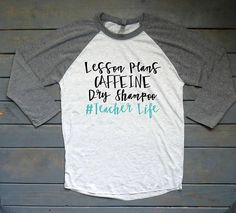 Teacher Life Raglan Tee Back To School Shirt Teacher Shirt