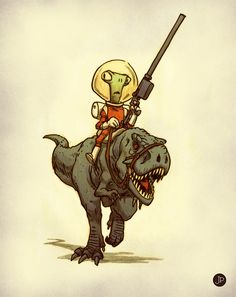 Aliens and dinosaurs go so very well together I think.