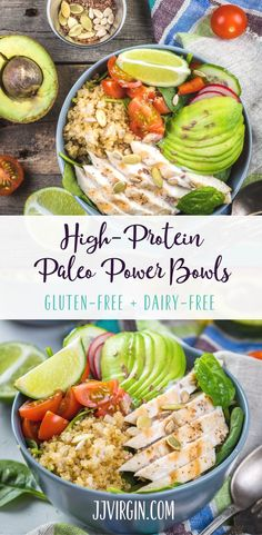 Choose your own combo of meat fruits and veggies for a customized one-bowl Paleo meal thats full of flavor plus healthy protein fats and fiber! Get this gluten free dairy free healthy dinner recipe now. - March 02 2019 at Vegan Dinner Recipes, Whole Food Recipes, Diet Recipes, Healthy Recipes, Healthy Protein Dinner Recipes, Clean Eating, Healthy Eating, Paleo Diet Meal Plan, Paleo Meals