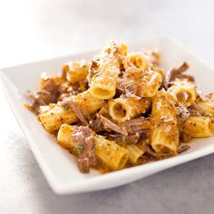 Rigatoni with Beef and Onion Ragu -We knew that the meat in this Neapolitan gravy would add big savory flavor. What we learned in the making was that the other key player—the onions—would, too. Test Kitchen recipe.