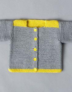 Modèle brassière bicolore Layette   Modele tricot layette, Modele tricot, Tricot