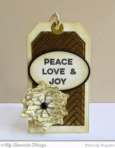 A Paper Melody: MFT's October New Product Launch - Christmas Tags