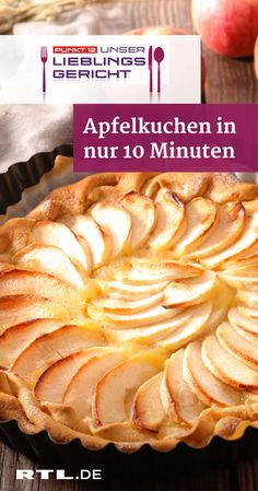 Leckerer Apfelkuchen – in nur 10 Minuten ist er im Ofen That's how easy the lightning-quick apple cake from point Twice delicious: apple pieTwice delicious: apple pieTwice delicious: apple pie Apple Desserts, Easy Desserts, Delicious Desserts, Dessert Recipes, Yummy Food, Tart Recipes, Apple Recipes, Cooking Recipes, Best Pancake Recipe