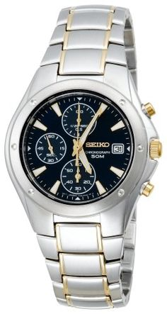 Seiko Mens SND585 Chronograph Watch *** Details can be found by clicking on the image. This Amazon pins is an affiliate link to Amazon.