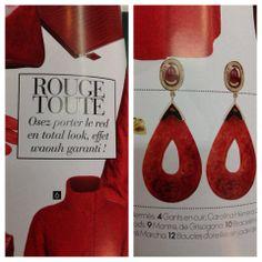 Mukhi Sisters, Jade Earrings, featured in Elle Oriental, November'13.