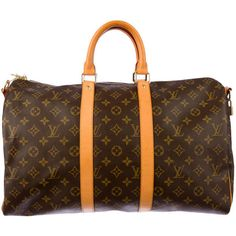 Pre-owned Louis Vuitton Keepall 45 Bandouliere ($1,095) ❤ liked on Polyvore