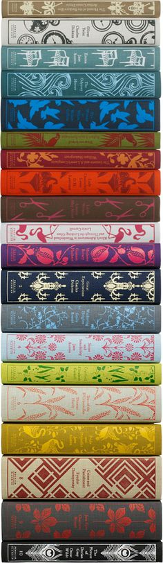 Penguin classics. Zoe has Arabian Nights, Wuthering Heights, Sense and Sensibility, Alice in Wonderland, Middlemarch, a Collection of Shakespearean poetry, Oliver Twist, Hound of the Baskervilles, Le Mis, and A Christmas Carol and other Dickens Christmas stories. I like English romantics, British romantics, and poetry.