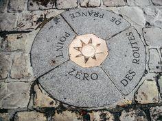 Point Zero-Located next to Notre Dame