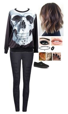 """""Gun."" - My Chemical Romance"" by wonderland-13-swift ❤ liked on Polyvore featuring Ally Fashion, Jouer, West Coast Jewelry, BERRICLE and Vans"