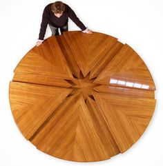 Unique Wood Furniture Reclaimed Wood Alibaba 20 Unique Furniture Designs That Will Make You Drool Unique Wood Furniture, Furniture For Small Spaces, Furniture Styles, Furniture Design, Futuristisches Design, Interior Design, Design Ideas, Circular Table, Cool Tables