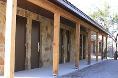 Adult shower and latrine facility at Worth Ranch BSA