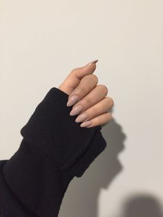Ideas Nails Acrylic Brown Art Ideas For 2019 – nageldesign. Almond Acrylic Nails, Almond Nails, Acrylic Nails Nude, Acrylic Art, Hair And Nails, My Nails, Nagel Gel, Nude Nails, Peach Nails