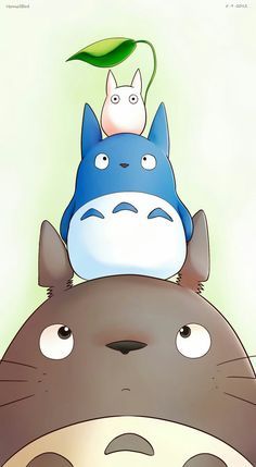 I find myself smiling every time I see this (or any other Totoro illustration)