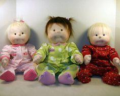 soft sculptured baby dolls found at ZeldasCloset on Etsy.