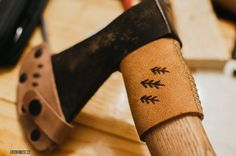 Leather axe handle guard