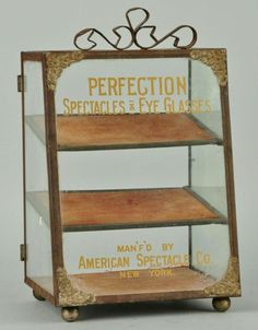 Original Perfection Spectacles & Eye Glasses Country Store Display Case