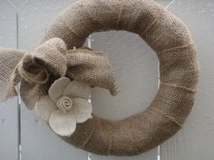 Burlap Wreath for the front door?