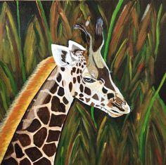 Giraffe Acryl painting on canvas Size 50x50