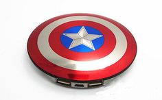 Captain #america #shield #power bank - 6800 mah 2 usb - the avengers phone charge,  View more on the LINK: http://www.zeppy.io/product/gb/2/262316858082/