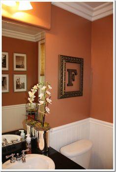 Framed Initial For Powder Room Ooo I Have A Frame Can Do Burnt Orange