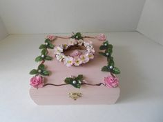 Wedding Memory box Sweet pea theme small by TrulyUniqueBouquets, $20.00