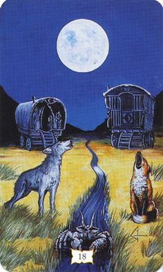 """We make mistakes because the easiest and most comfortable course for us is to seek insight where it accords with our emotions."" ~ Aleksandr Isayevich Solzhenitsyn 1918-2008    Buckland Romani Tarot- The Moon, via Quirkeries"