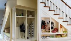 This is almost exactly what I was thinking for under your stairs!  60 Under stairs storage ideas for small spaces