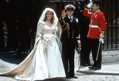 Sarah Ferguson, Duchess of York and Prince Andrew get married at Westminster Abbey, London England 23rd July 1986