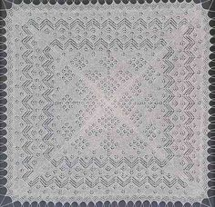 Kant breiwerk - De Gibbie shawl - The Gibbie Shawl