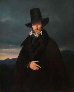 Wilhelm Bendz (1804-1832), Portrait of the German Painter Wilhelm von Kaulbach, 1832