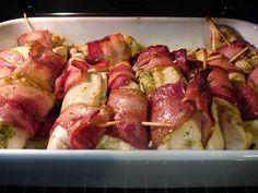 Peitos de frango com pesto e bacon | Cozinha com tomates