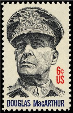 General Douglas MacArthur 1971 by Teresa Trotter Rare Stamps, Vintage Stamps, Museum Collection, Pin Collection, Douglas Macarthur, Price Of Stamps, World 2020, Hobbies And Interests, American War