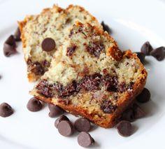 Shawn Johnson's the body department - Chocolate Chip Banana Bread #yummy #nomnom #chocolate #bananabread