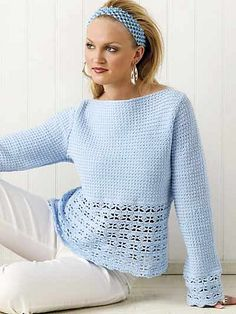 Ravelry: Blue Heaven Top pattern by Laura Gebhardt - free pattern [sport]