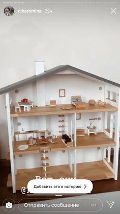 Kids Doll House, Doll House Crafts, Doll House Plans, Toy House, Barbie Doll House, Best Doll House, Doll Houses, Ikea Dollhouse, Dollhouse Design