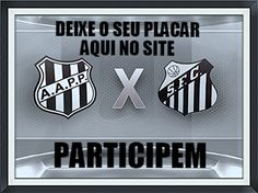 Santos atropelo o São Paulo e agora tem pela frente a Ponte Preta neste domingo, deixe o seu placar deste jogo aqui. http://futebolcomarte.wix.com/santos-futebol-arte#!seu-placar-para-ponte-preta-x-santos/cum0 ... Participem !!!
