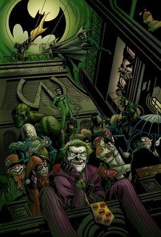 Joker look out it's Batman & Robin! Gotham Villains, Comic Villains, Comic Book Characters, Comic Character, Comic Books Art, Batman 1, Superman, Gotham Batman, Gotham City