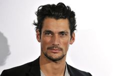David Gandy arriving at the Paul Smith for Evian launch party, held at Millbank Tower in central…