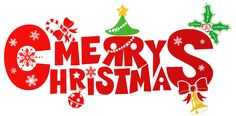 Red Merry Christmas PNG Clipart Image