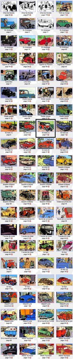 Tintin cars