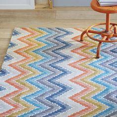 Zoomed image - Bargello Crewel Wool Rug | west elm