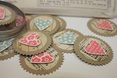 vintage heart tags
