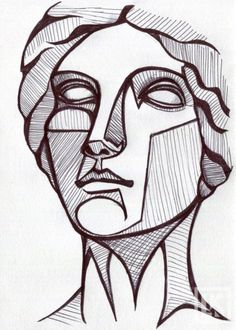 Drawing challenge: Find a photograph to reference of a Greek or Roman statue. Use a simple ballpoint pen, and try to distinguish the shadows as strongly as you can.