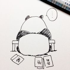【一日一大熊猫】2016.12.30 本日はおとなしく新年のご挨拶を作成します。。。 #パンダ #お年賀