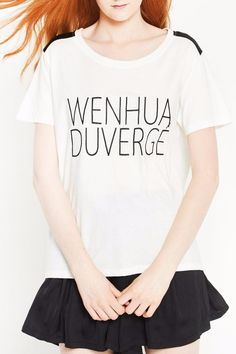 This embroidered logo T-shirt in Organic cotton , indispensable part of the female wardrobe, very nice touch while ensuring a chic sporty look and respecting the environment. Model is wearing size S/M and is 176 cm.    Organic Cotton Tee by WENHUA DUVERGÉ. Clothing - Tops - Short Sleeve Clothing - Tops - Tees & Tanks France