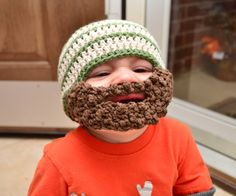 beard beanie... i need this in red for Cammer so he can look like daddy :)